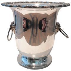 Silver Lion Head Door Knocker Champagne Bucket