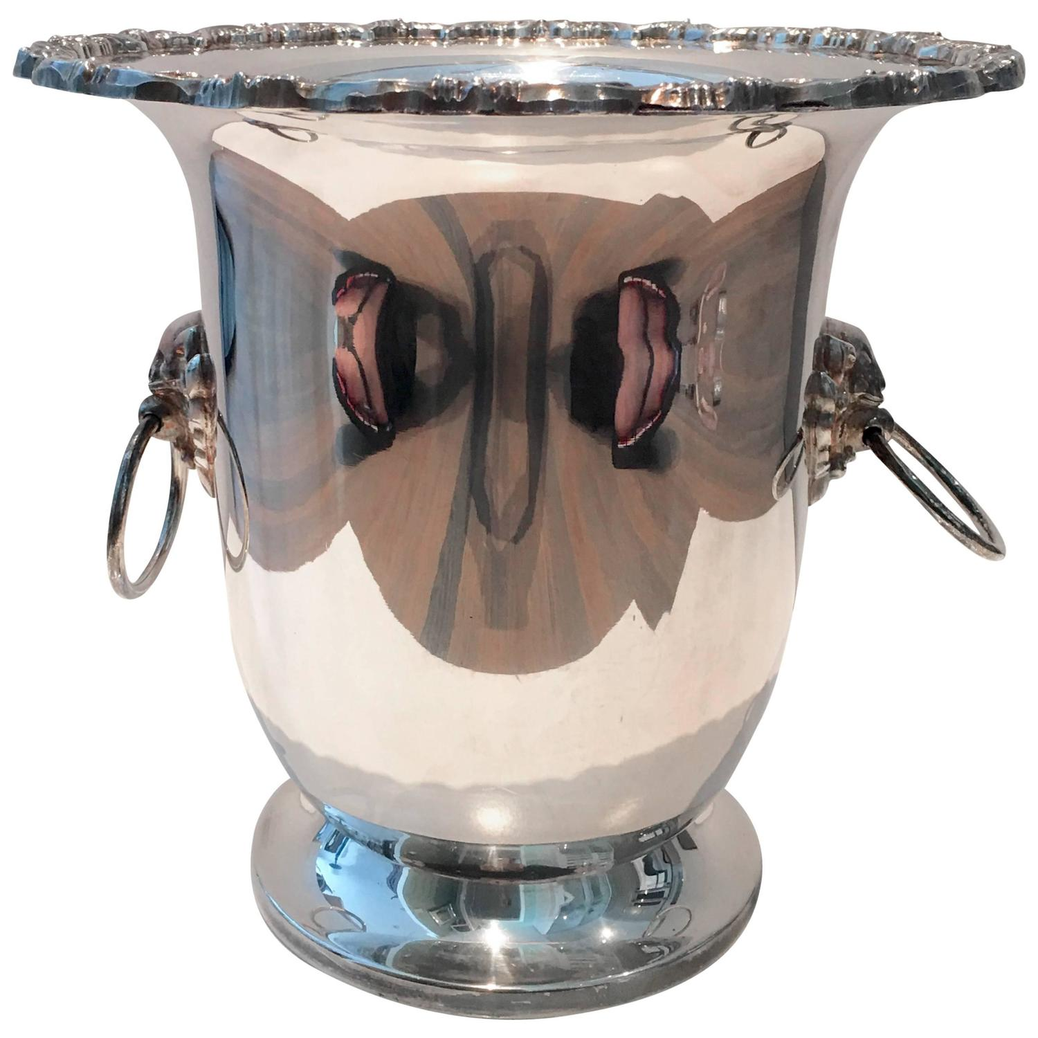 Silver Lion Head Door Knocker Champagne Bucket For Sale At