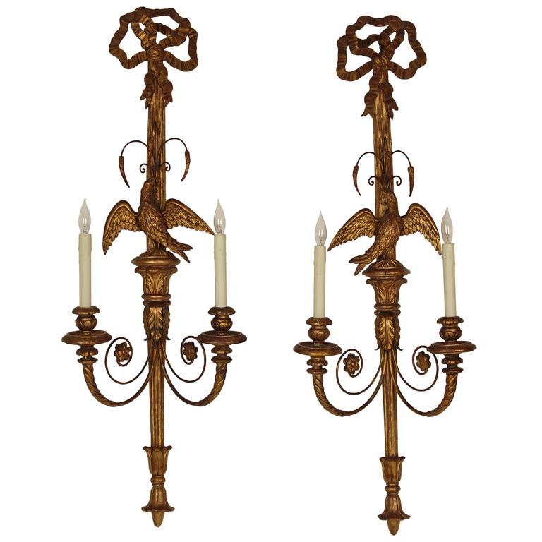 Pair of Neoclassical Style Wall Sconces