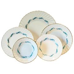 "1960s English Minton ""Downing"" Bone China, 45 Piece Set"