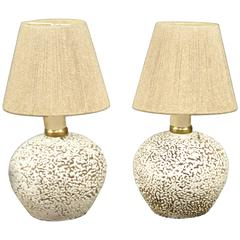 Pair of Small Lamps, France, circa 1950