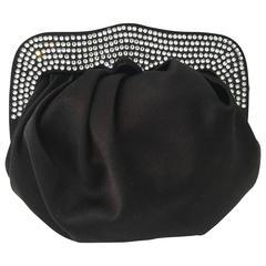 St. John Silk Crystal Encrusted Evening Bag