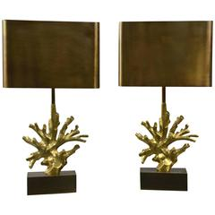 Pair of Table Lamps by Maison Charles, France, 1970s