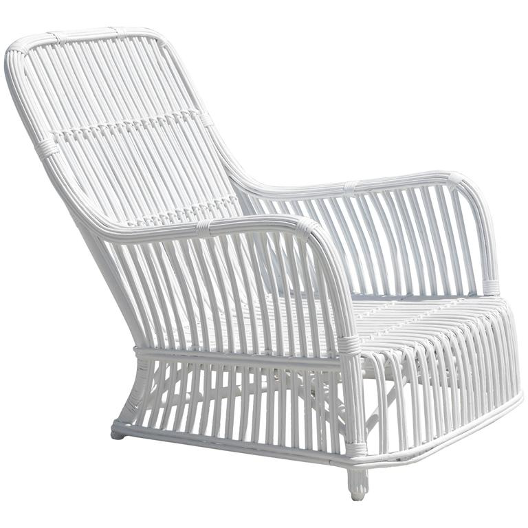 Heywood Wakefield Stick Wicker Lounge Chair at 1stdibs