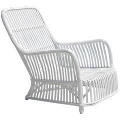 Heywood-Wakefield Stick Wicker Lounge Chair