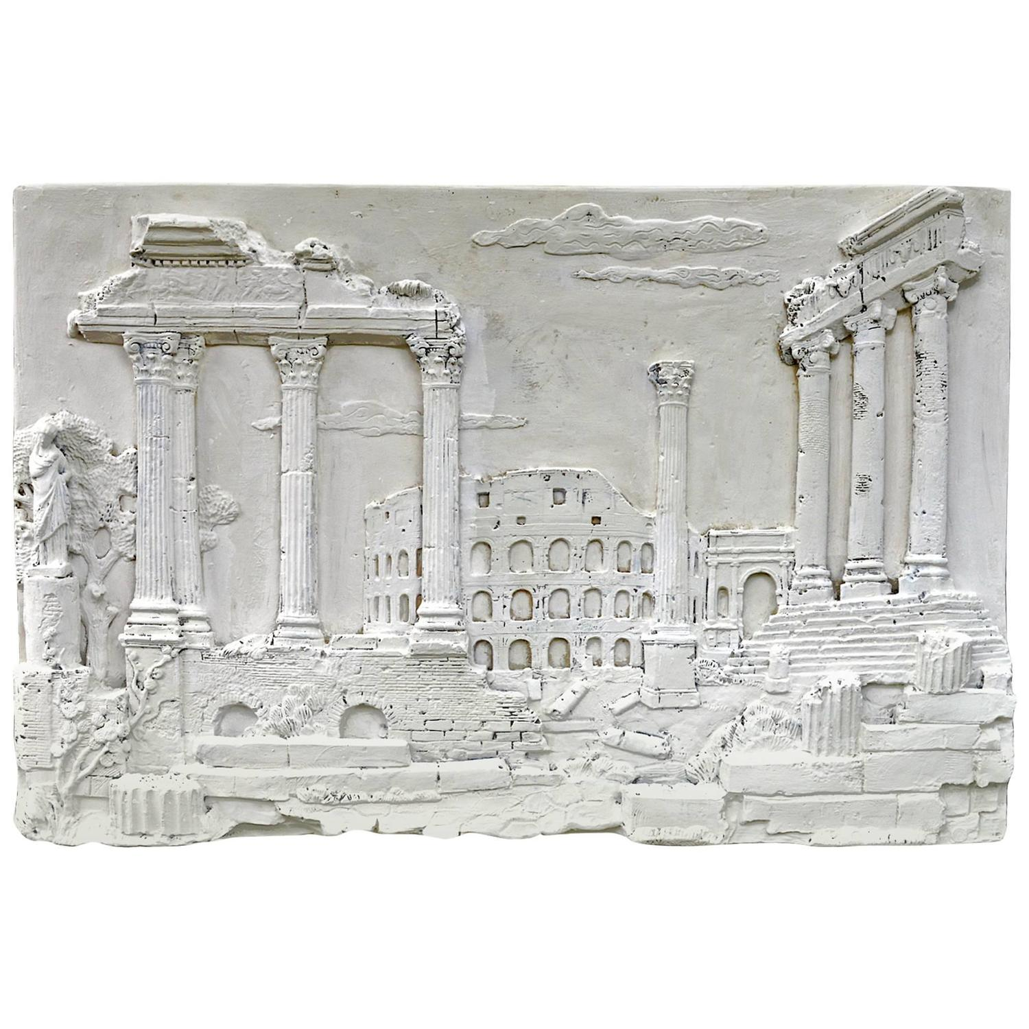 Plaster Wall Hanging Of A Classical Scene For Sale At 1stdibs