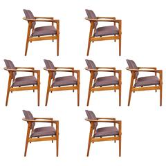 Set of Eight Chairs by Folke Ohlsson