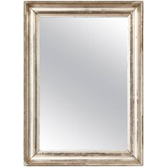 French 19th Century Silvered Mirror Frame