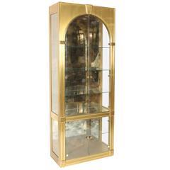 Mastercraft Brass Clad Display Cabinet