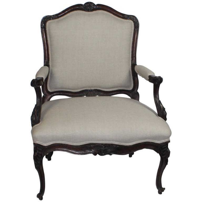 19th century louis xv style fauteuil at 1stdibs - Fauteuil style louis xv ...