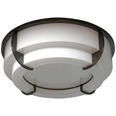 Fine French Art Deco Two-Tier Round Flush Mount by Jean Perzel