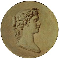 Trompe-L'œil in Grisaille Depicting Goddess Athena, Late 18th Century
