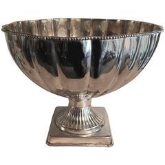 Stunning Silver Plate Pedestal Bowl Punch Bowl
