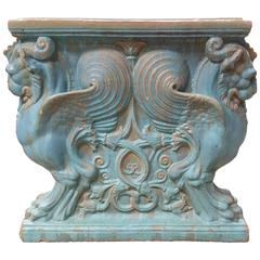 Winged Lion Pedestal by Gladding, McBean Pottery