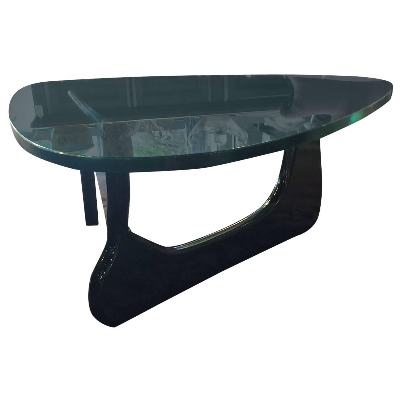Glass Coffee Table In The Style Of Isamu Noguchi For Sale At 1stdibs