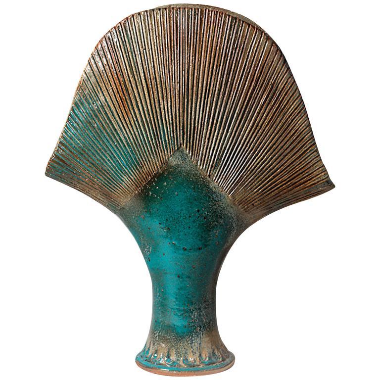 Important Stoneware Vase by Gustave Tiffoche, circa 1980