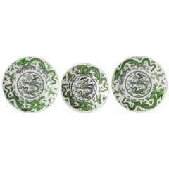 Coalport Ironstone Green Dragon Plates