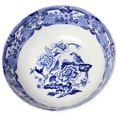 Mason Ironstone Blue Pheasant Bowl