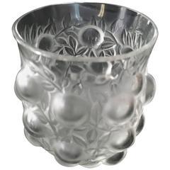 Signed R. Lalique Bud Vase