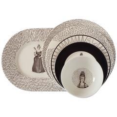 Set of Six Plates Novissa Tableware Designed by Chiara Andreatti for Portego