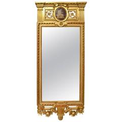 Fine Gustavian Giltwood Mirror by Johan Åkerblad, Stockholm