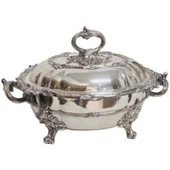 English Sheffield Silver Tureen