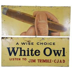 1950 Metal Advertising Cigar Sign