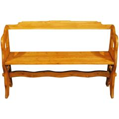 Late 19th Century Danish Pine Bench