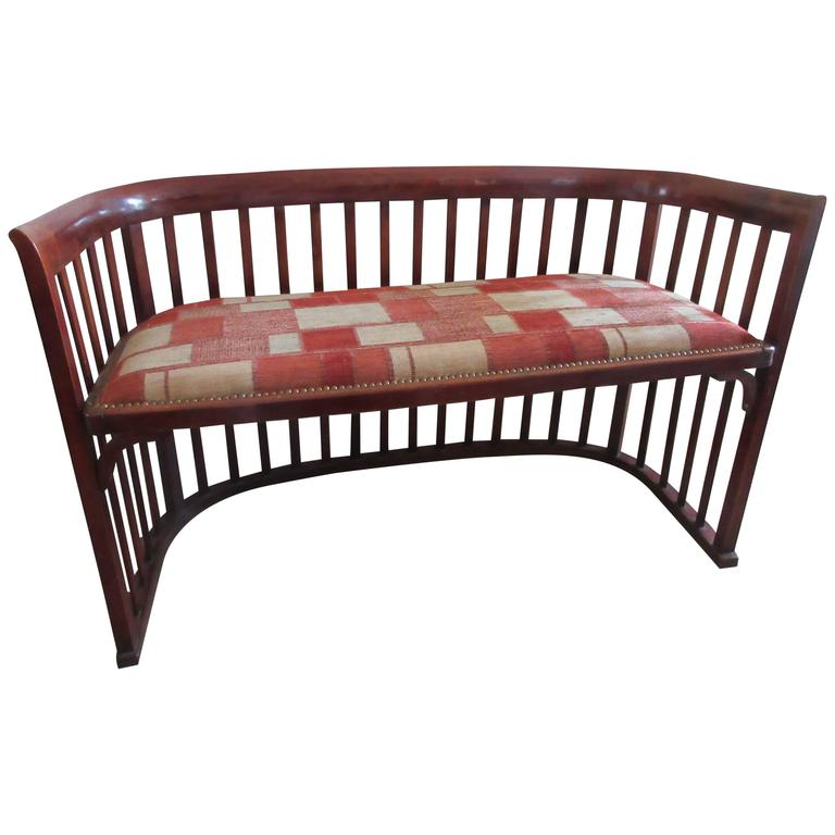 Spindle Framed Bench in the Style of Joseph Hoffmann 1
