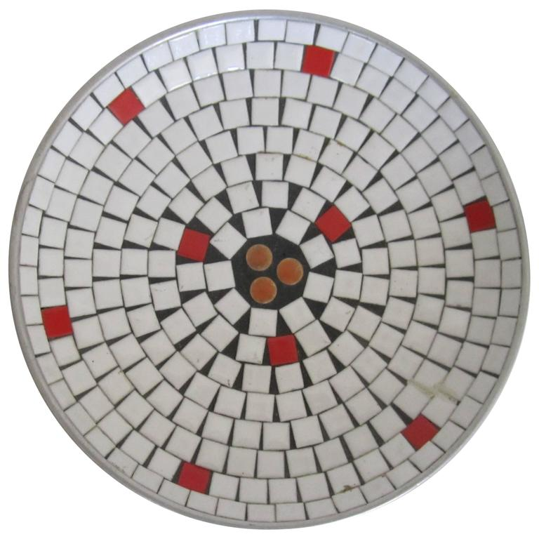 Midcentury Modern White Mosaic Ceramic Tile Dish Or Bowl For Sale At - Ceramic tiles mosaics for sale