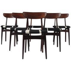 Bruno Hansen Danish Rosewood Dining Chairs