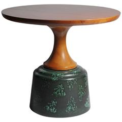 John Van Koert Ceramic and Wood Occasional Table for Drexel