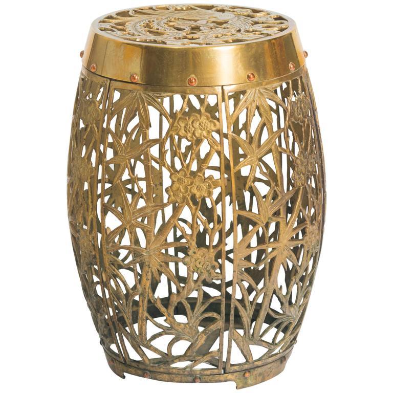 ... Asian Brass Garden Stool For ...
