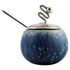 Carl Halier for Royal Copenhagen, G. Jensen, F. Hingelberg: Jam Jar in Stoneware