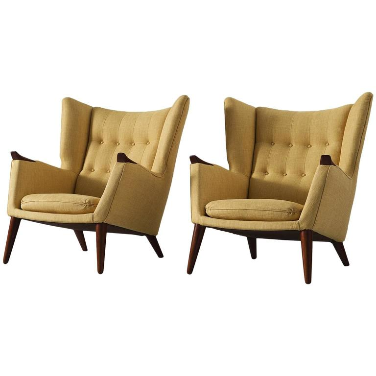 Kurt Østervig Pair of Yellow Lounge Chairs For Sale at 1stdibs