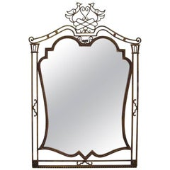French Gilded Iron Mirror