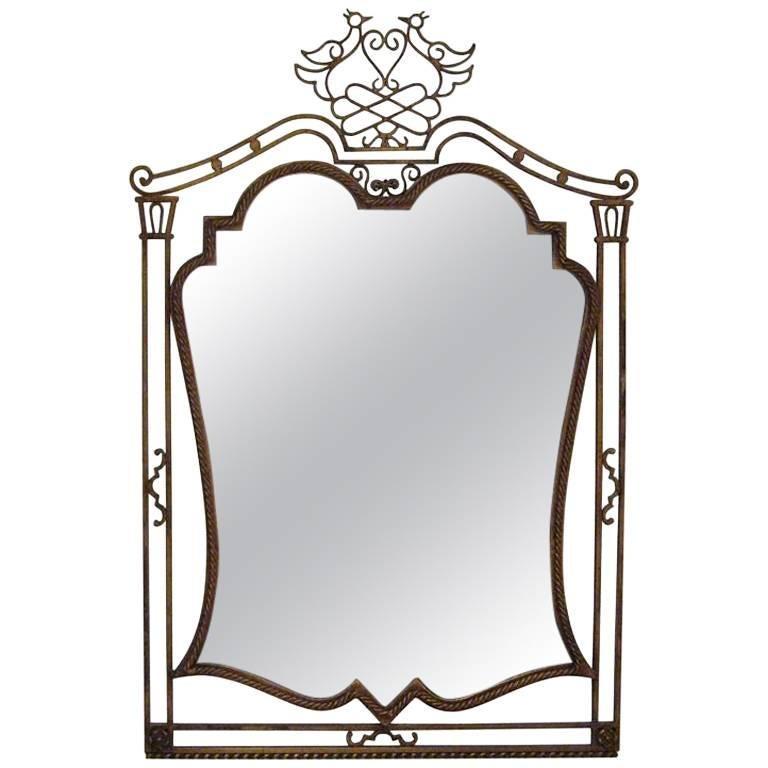 French Gilded Iron Mirror 1