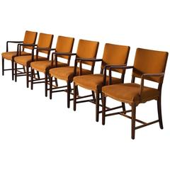 Set of Six Danish Armchairs in Solid Rosewood