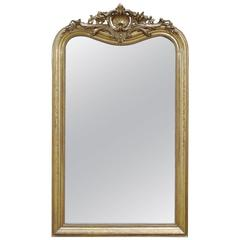 19th Century Large Gold Gilded Mirror