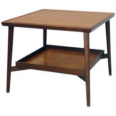 Edward Wormley for Dunbar Burled Lamp Table