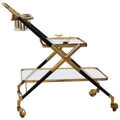 Bar Cart by Cesare Lacca, Italy, circa 1950