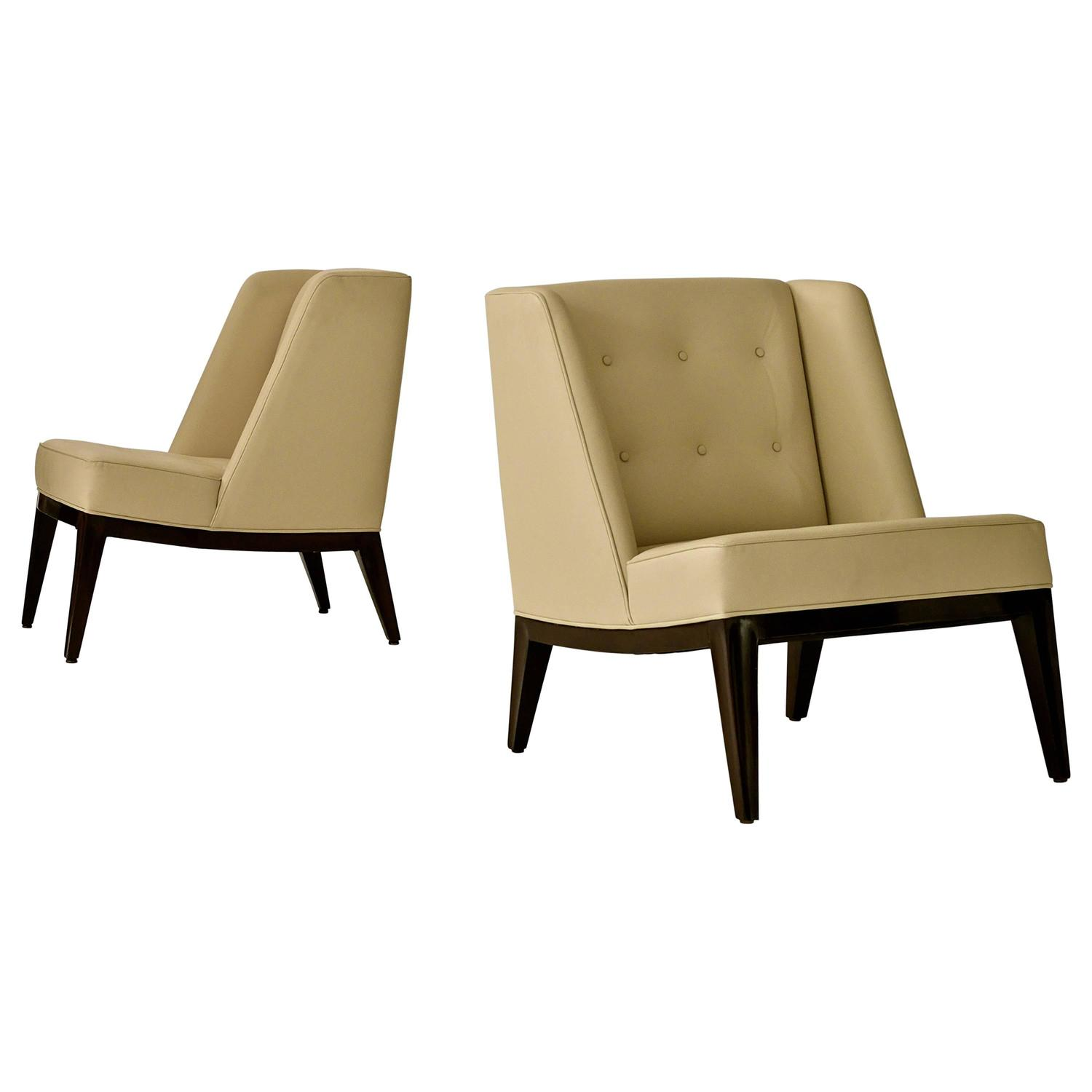 """American Mid Century Modern Atomic Age Small Patio Round: Rare Edward Wormley """"Janus"""" Lounge Chairs For Sale At 1stdibs"""