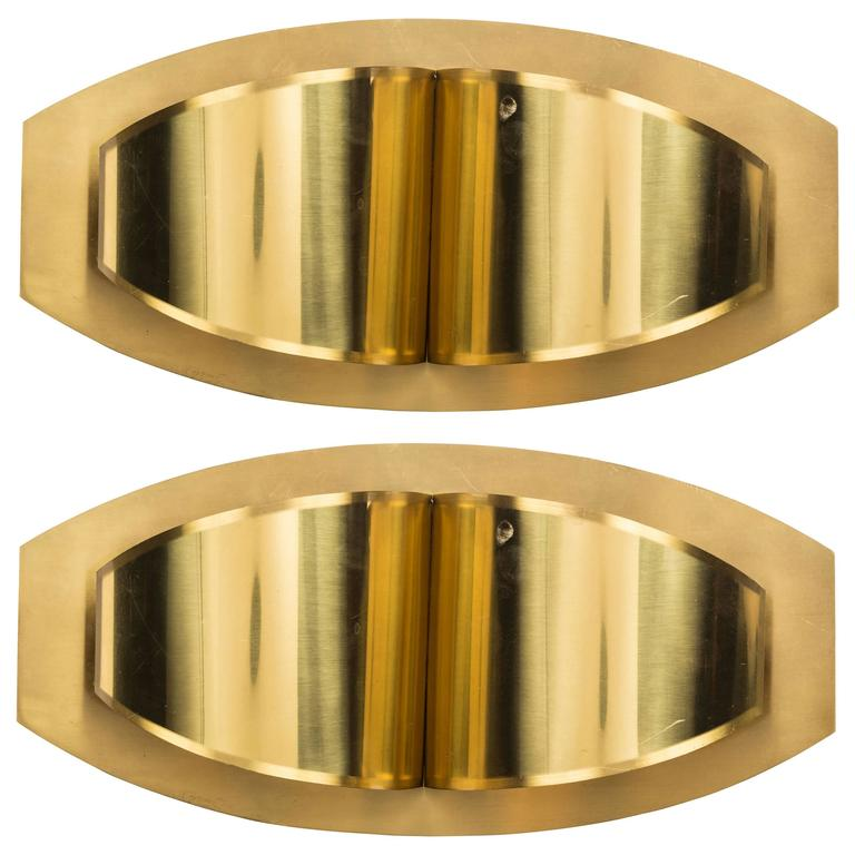 Pair of Brass Sconces Made in Italy