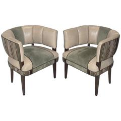 Pair of Curvaceous Chairs Designed by Gilbert Rohde