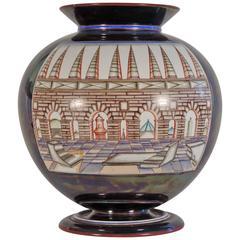 "Monumental Guido Andlovitz ""Monza"" Vase with Architectural Decoration"
