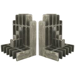 Pair of Mid-Century American Brutalist Style Bookends