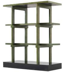 Gabetti & Isola Black and Green Bookcase