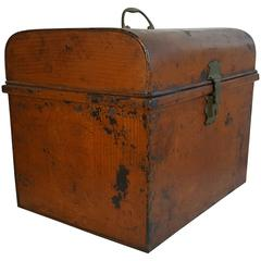 Late 19th Century Industrial Grain Painted Document Box/Trunk