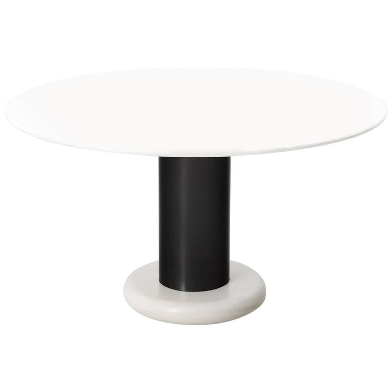 Ettore Sottsass Marble Pedestal Dining Table
