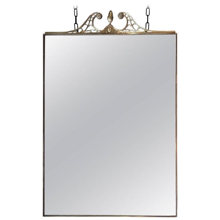 Large Solid Bronze Mirror